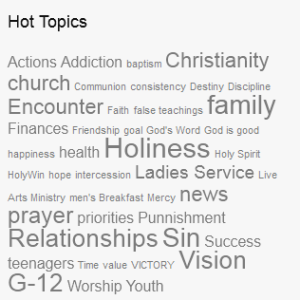 Christian blog tag cloud.