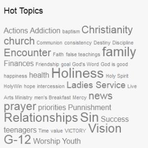 Christian blog tag cloud.