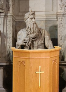 Moses Behind Pulpit
