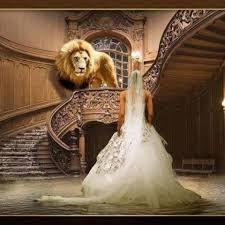 Warrior bride with lion