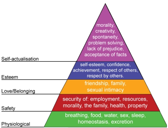 Abraham Maslow's Hierarchy of Human Needs