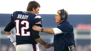 Tom Brady with Bill Belichick